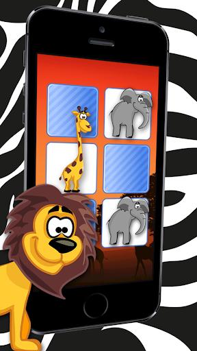 野生卡通動物拼圖遊戲