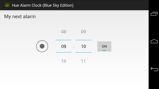 Hue Alarm Clock (Blue Sky Ed.) - screenshot thumbnail