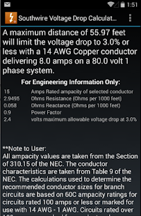 Southwire Volt Drop Calculator- screenshot thumbnail