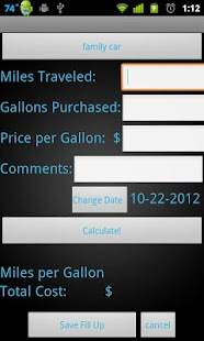 Gas Mileage Journal - screenshot thumbnail