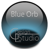 Blue Orbs Icon Background