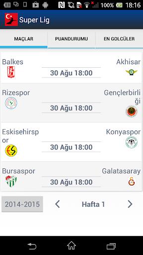 Süper Lig - Türkiye Futbol Lig