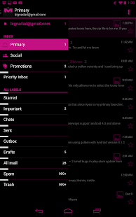 JB Extreme Theme Pink CM11 - screenshot thumbnail