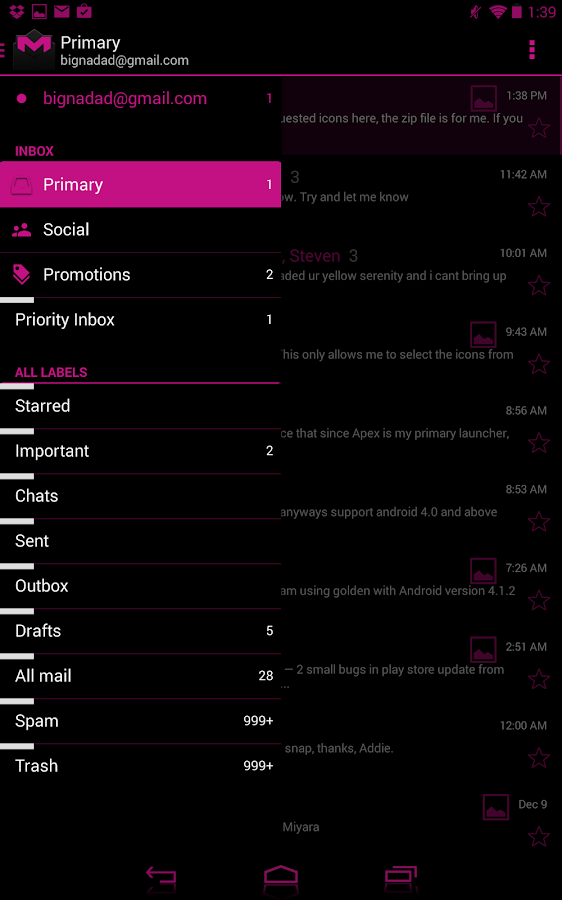 JB Extreme Theme Pink CM11 - screenshot