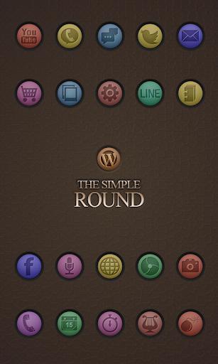 Round icon theme