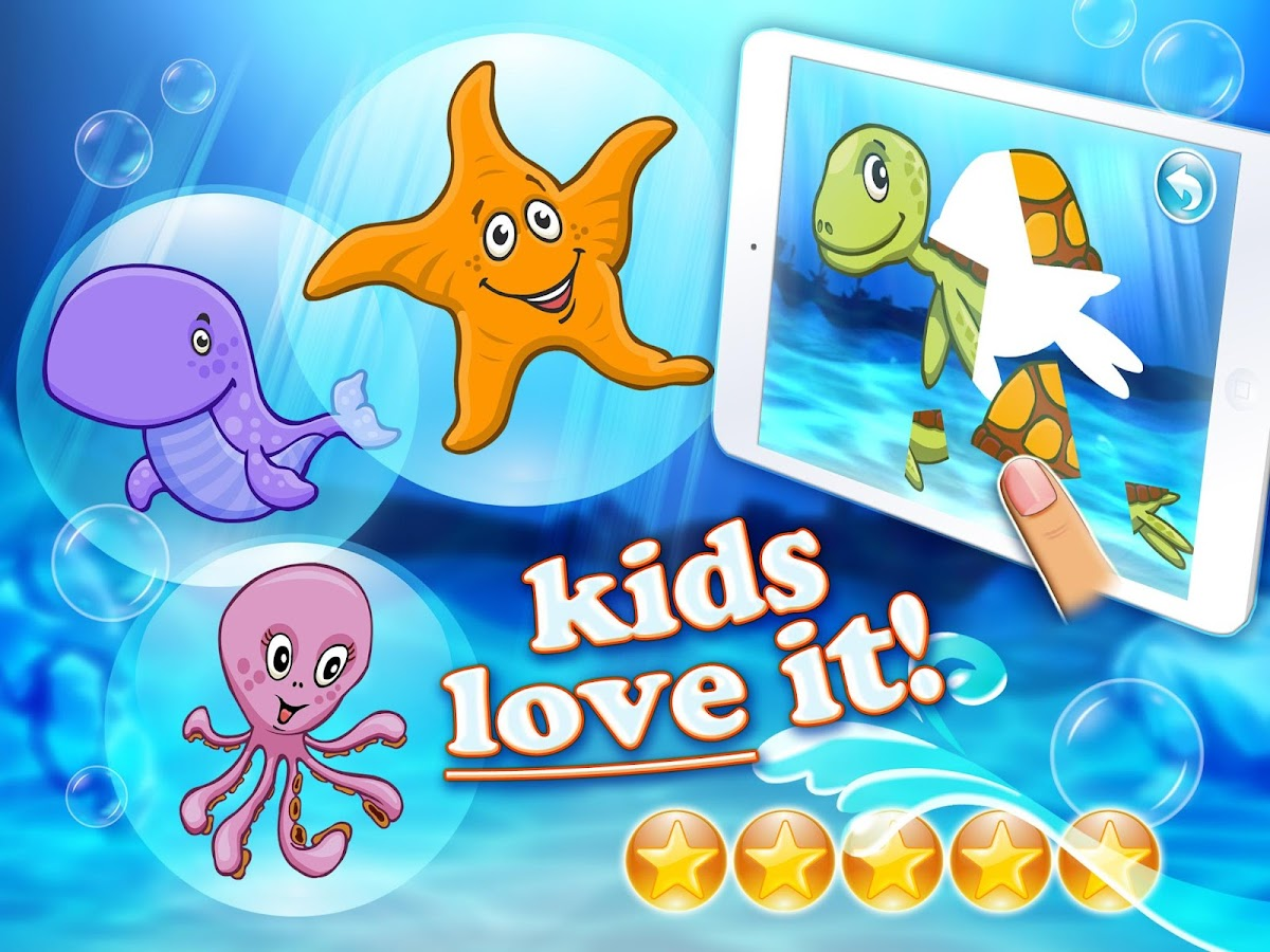 Ocean puzzle HD for toddlers - screenshot
