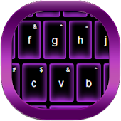 Purple Neon Keyboard Free