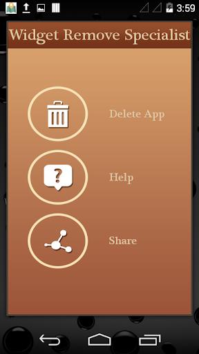 App Remove Specialist widget