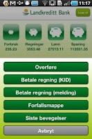 Screenshot of Landkreditt Bank