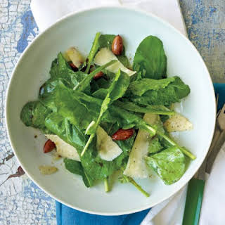 Arugula Salad with Almonds and Parmesan.