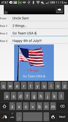USA Flag eCard Maker Labor Day