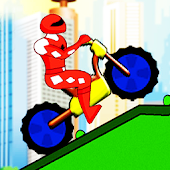Red ranger motorbike