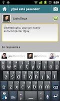 Screenshot of TweetTopics 1.0 (old version)