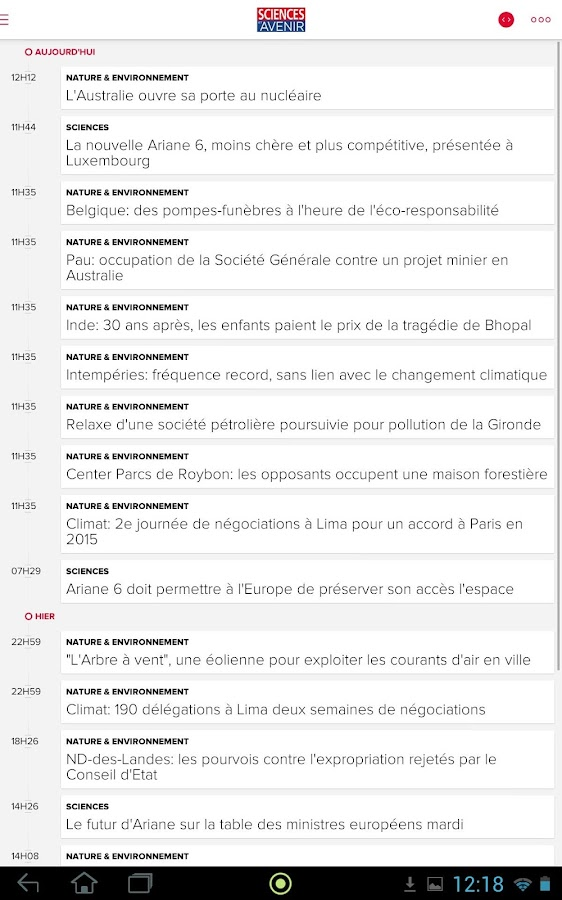 Sciences et Avenir- screenshot