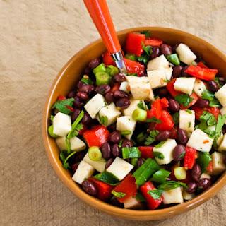 Black Bean Salad with Jicama, Tomatoes, Cilantro, and Lime.