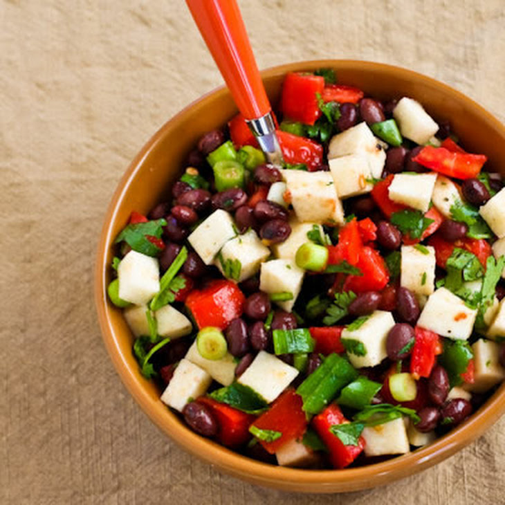 Black Bean Salad with Jicama, Tomatoes, Cilantro, and Lime Recipe