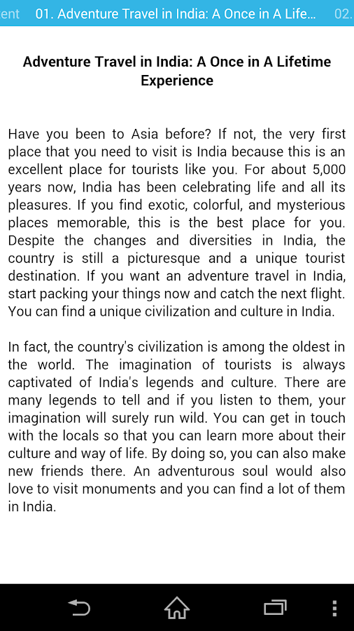 India Travel culture adventure- screenshot