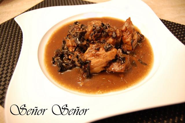 Chicken in Black Trumpet Mushroom Sauce