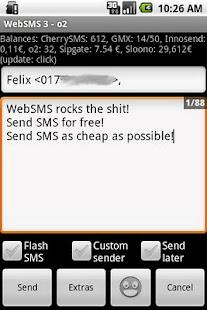 WebSMS: sipgate Connector- screenshot thumbnail