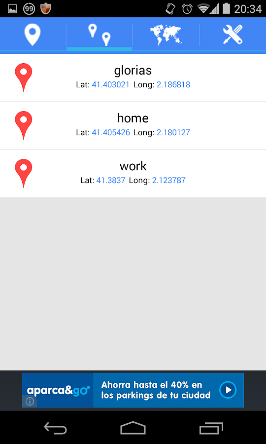 Latitude Longitude Location- screenshot