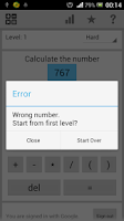 Screenshot of Exact Number