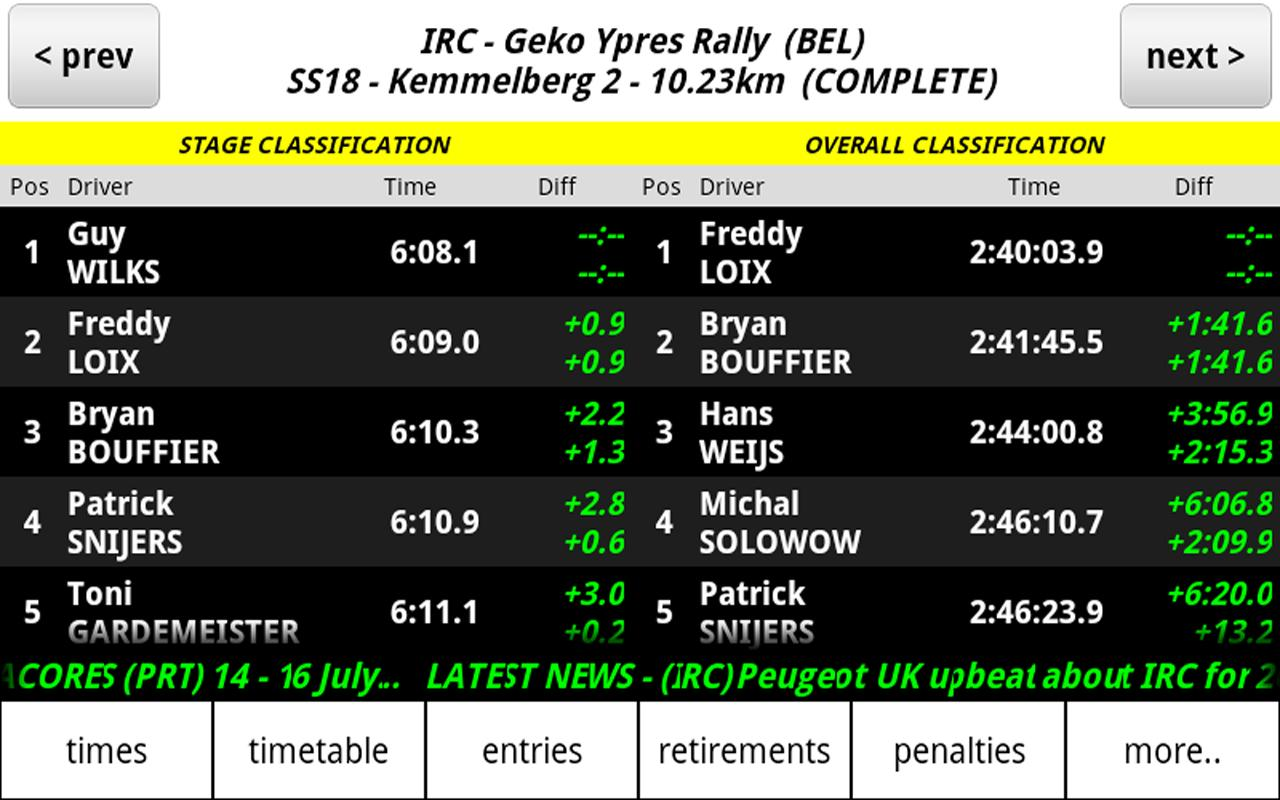 iRally: Rally WRC no FI NASCAR - screenshot