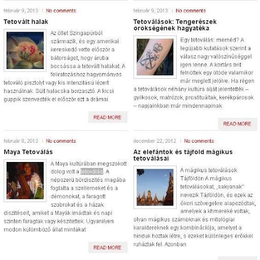 Tetoválás Története