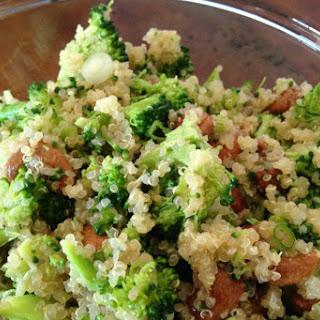 Broccoli Salad With Quinoa, Scallions and Roasted Cashews [Vegan, Gluten-Free]