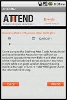 Screenshot of Attend NZ