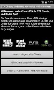 GTA Cheats und News - screenshot thumbnail