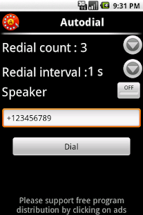 Autodial (autorecall,dial)FREE - screenshot thumbnail