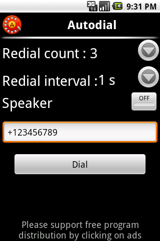 Autodial (autorecall,dial)FREE - screenshot