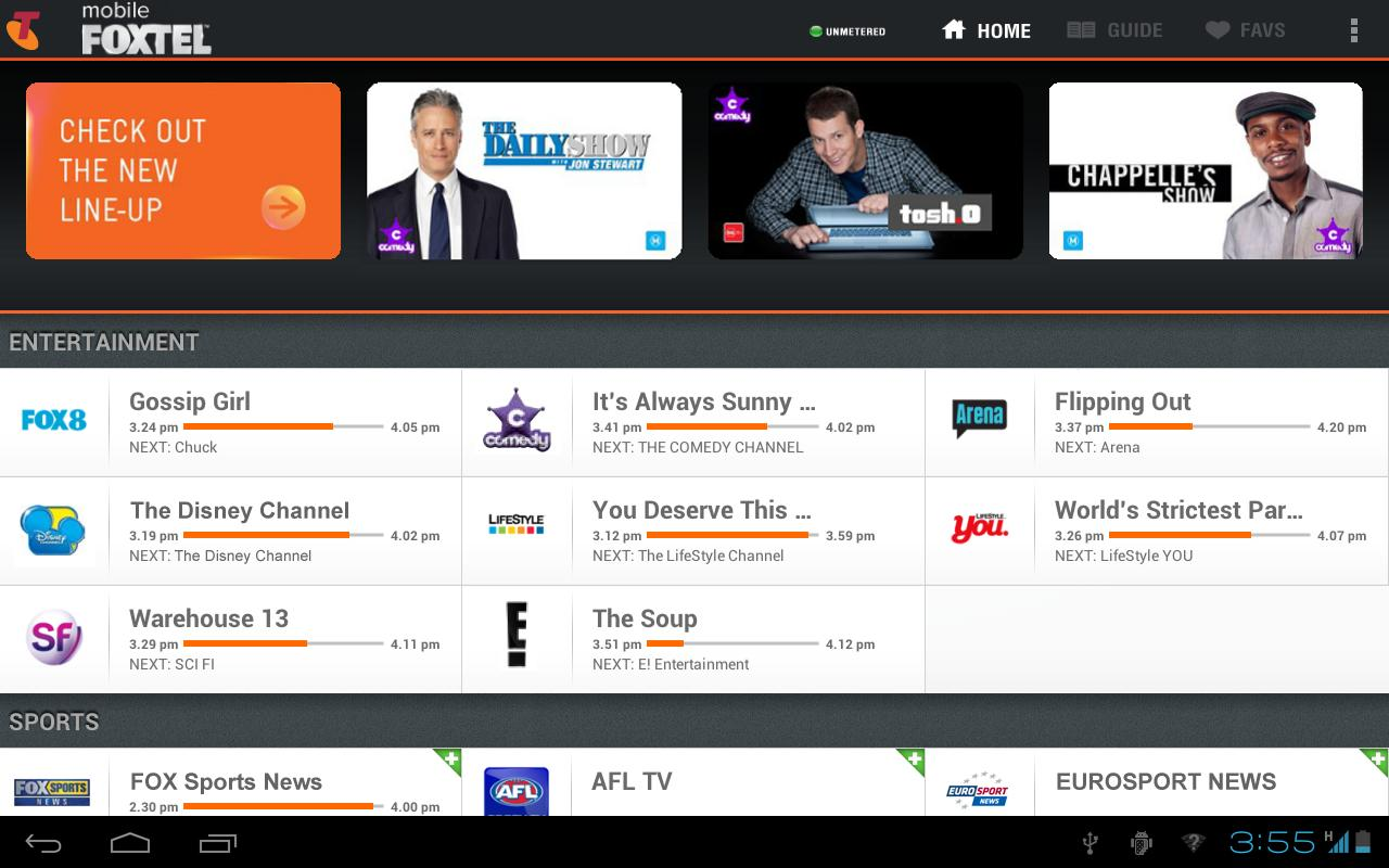 Mobile FOXTEL - screenshot