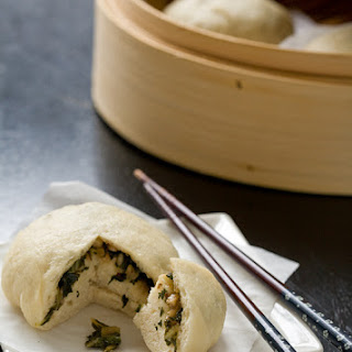 Asian Steamed Buns with Kale and Bok Choy Recipe