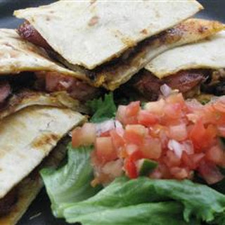 Polish Sausage Corn Chip Quesadillas.
