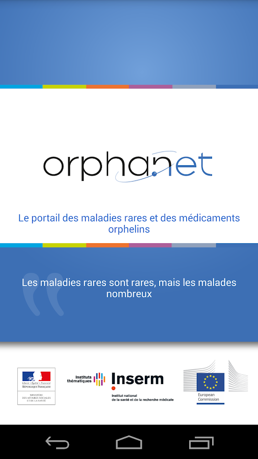Orphanet - screenshot