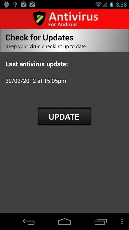 Antivirus for Android - screenshot