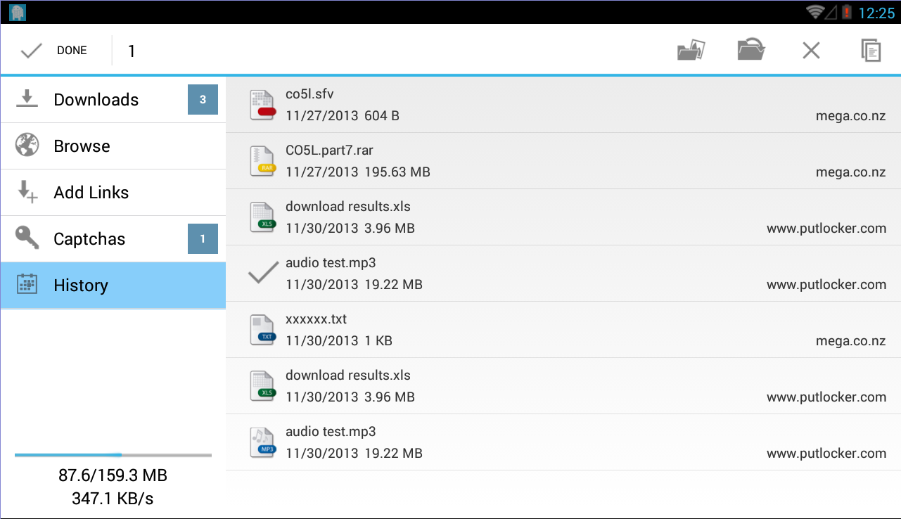 Ponydroid Download Manager - screenshot