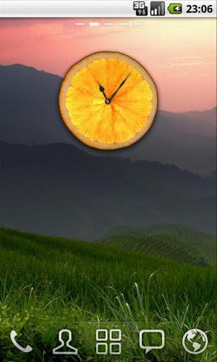 Bright Orange Clock
