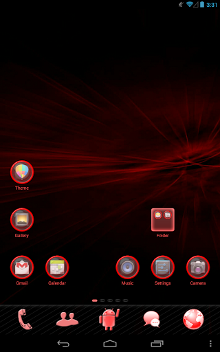 Red Light Go Launcher Theme