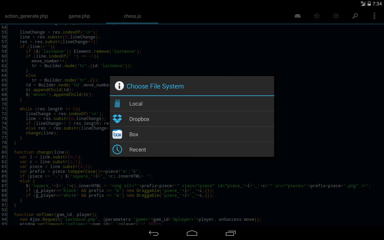 DroidEdit Pro (code editor)- screenshot