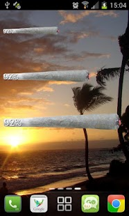 Weed Joint HD Battery Widget - screenshot thumbnail