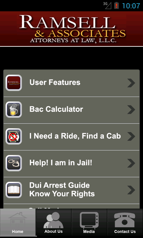 Ramsell & Associates DUI App- screenshot