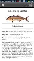Screenshot of TX SW Fisghing Regulations