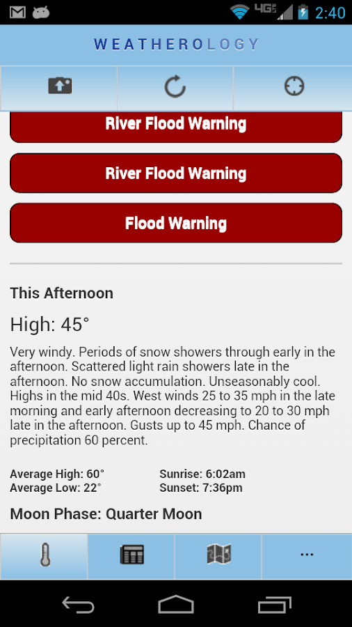 Weatherology Mobile- screenshot