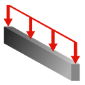 SS Beam Dist Load icon