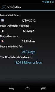 Lease Miles Widget- screenshot thumbnail