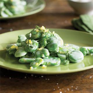 Fava Beans with Crème Fraîche and Mint