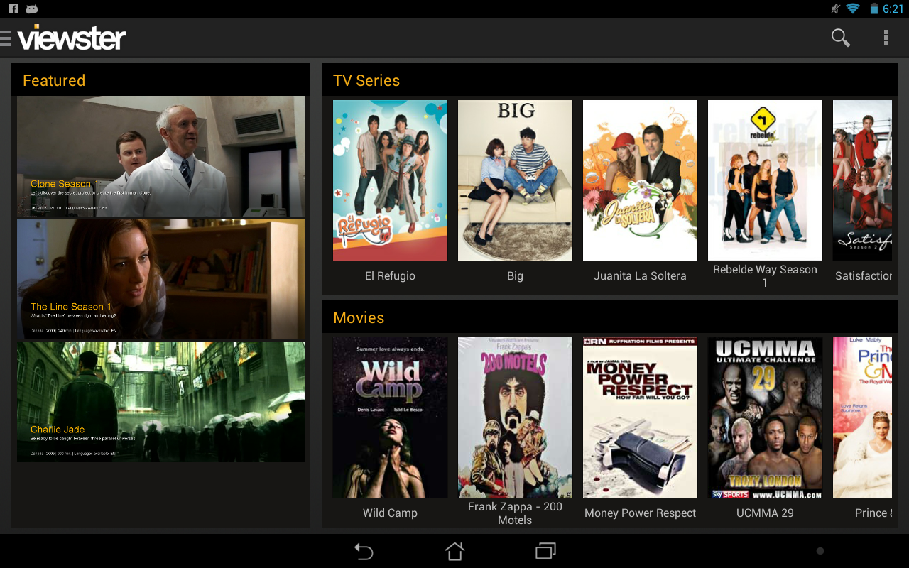 Free movies and TV shows - screenshot