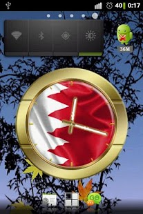 Bahrain flag clocks - screenshot thumbnail